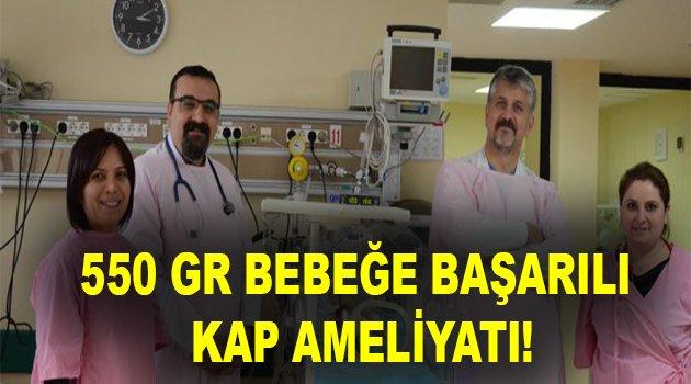 550 gr bebeğe başarılı kalp ameliyatı