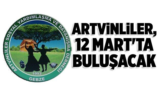 Artvinliler, 12 Mart'ta buluşacak