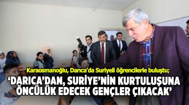Karaosmanoğlu, Darıca'da Suriyeli öğrencilerle buluştu
