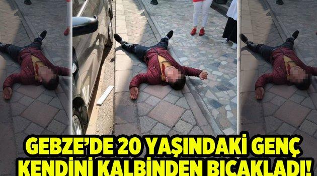 Sokak ortasında kendisini kalbinden bıçakladı!