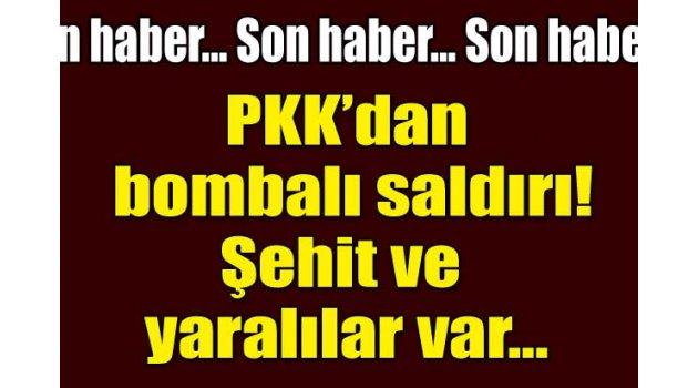 Mardin'de PKK'dan bombalı saldırı.!