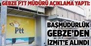 Başmüdürlük Gebze'den İzmit'e alındı