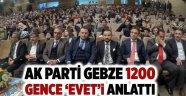 AK Parti Gebze 1200 gence 'evet'i anlattı!