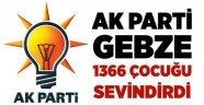 AK Parti Gebze 1367 çocuğu sevindirdi!