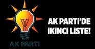 AK Parti'de ikinci liste!