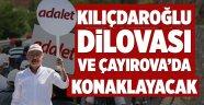 Kılıçdaroğlu Dilovası ve Çayırova'da konaklayacak